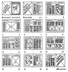 """Some layout rules. Consider editing a """"railroad"""" (all pages are combined in reduction, on one and the same page) to ensure the proper construction of your creation. Page Layout Design, Web Design, Magazine Layout Design, Book Layout, Bts Design Graphique, Mises En Page Design Graphique, Newspaper Layout, Newspaper Design, Mise En Page Portfolio"""