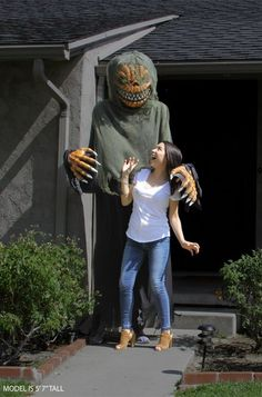 Towering Terror Pumpkin Adult Costume | Pumpkin Head | Terror | Fright Night | Scary Costumes #ad