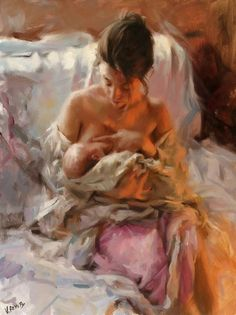 Vicente Romero Redondo young mother painting is shipped worldwide,including stretched canvas and framed art.This Vicente Romero Redondo young mother painting is available at custom size. Figure Painting, Painting & Drawing, Artist Painting, Mother And Child Painting, Breastfeeding Art, Beautiful Paintings, Oeuvre D'art, Love Art, Female Art