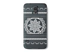 Galaxy S5 Case, DandyCase PERFECT PATTERN *No Chip/No Peel* Flexible Slim Case Cover for Samsung Galaxy S5 - LIFETIME WARRANTY [Vintage Navy Floral]