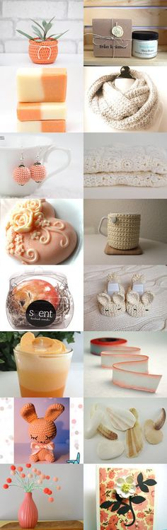 Peaches and Cream by Jacquelyn Jones on Etsy--Pinned with TreasuryPin.com Peaches, Challenge, Cream, Breakfast, Etsy, Food, Creme Caramel, Breakfast Cafe, Essen