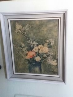 Mummolan taulu. Painokuva kopio Ester Heleniuksen Omenankukkia ja ruusuja maalauksesta vuodelta  1947. Fleas, Retro, Painting, Vintage, Art, Art Background, Painting Art, Kunst, Paintings