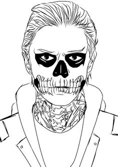 American Horror Story colouring in.