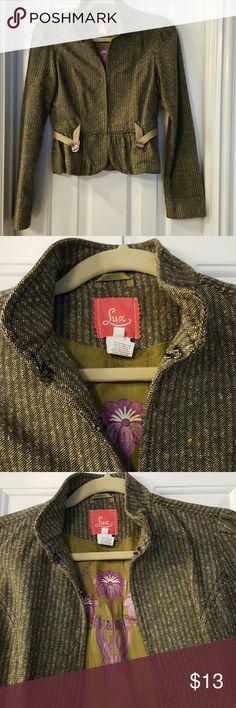 Blazer with inside details Clasp closure blazer Lux Jackets & Coats Blazers
