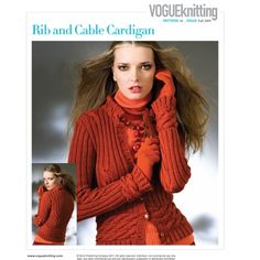 RIB AND CABLE CARDIGAN