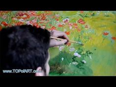 John Ottis Adams - In Poppyland (Poppy Field) | Art Reproduction Oil Painting - YouTube | Art Poppies | Pinterest