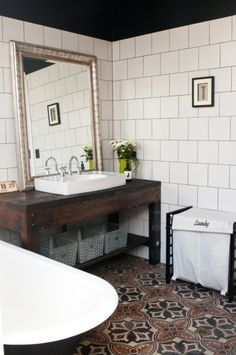 Inspirational post with unusual and DIY vanities.