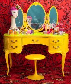 sarı makyaj masası modelleri 2015