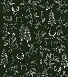 Fancy - Rifle Paper Co. - Holiday Pine Wrapping Sheets