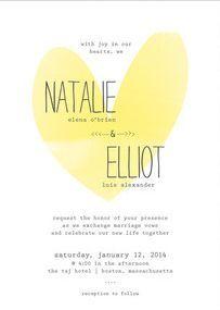 REVEL: Typewritten Heart Invitations
