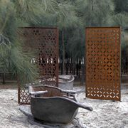 garden screen panels - might need these for more privacy Metal Garden Screens, Metal Screen, Garden Fencing, Privacy Walls, Privacy Screens, Outdoor Rooms, Outdoor Gardens, Patio Design, Garden Design