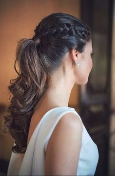 Fischschwanz, French Braid Ponytail kapselideeen # Zopffrisur in 2020 Styles Bob, Braid Styles, Braided Prom Hair, Braids For Long Hair, Short Hair Styles Easy, Curly Hair Styles, French Braid Ponytail, Cool Braid Hairstyles, Short Hairstyles