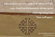 A jerusalem cross is a symbol of Kairos or God's time based on the intensity of time contemplating God. #spirituality.