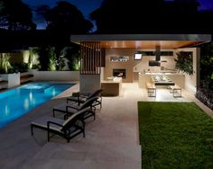Outdoor Kitchen Modern Comfy Outdoor Furniture Kitchen Design Layout Outdoor Entertaining Ikea Built In Grill Bars Free Small Kitchens Plans. Outdoor Kitchen Bars, Backyard Kitchen, Outdoor Kitchen Design, Patio Design, Backyard Patio, Outdoor Pool, Outdoor Decor, Kitchen Modern, Outdoor Furniture