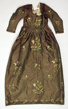 Dress  Date: 1840s Culture: Italian (probably) Medium: silk, metallic thread, cotton