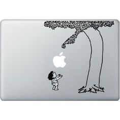 giving tree macbook decal - if I ever have a lot of disposable income