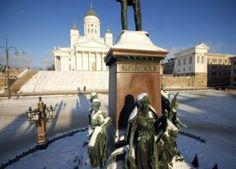 Senate Square & the Helsinki Cathedral Helsinki, Us Travel, Statue Of Liberty, Taj Mahal, Cathedral, Travel Photography, Tours, City, Finland