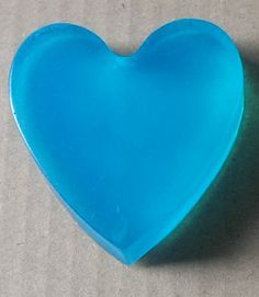 Aromatherapy Love Heart Soap 1x Elec Blue - Fennel and Ginger - Large/Med