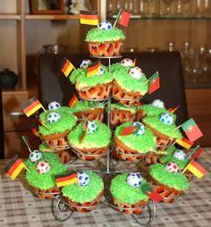 Rezept für Fußball WM Cupcakes