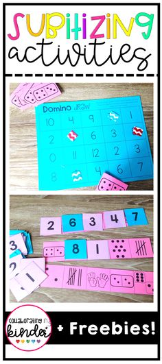 Fun activities to help your students build number sense and practice subitizing!