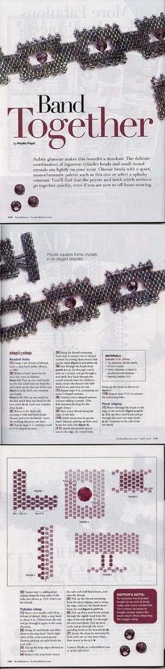 """Браслеты. Архив """"Beads and Button"""" (2001 - 2006 гг). Часть 3 / Схемы / Бусинка"""