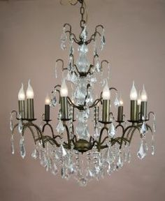 Bethany 12 Arm French Bronze Chandelier
