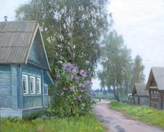 Russian Image, Russian Art, Country Life, Country Roads, Russian Landscape, Countryside Landscape, Russian Painting, Country Scenes, Anime Artwork