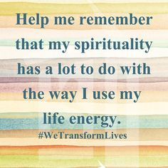 Spirituality & life energy will keep your #recovery from stalling out. Make your program your way of life. #WeTransformLives #CumberlandHeights #nashville #rehab #Recovery #sober #Addiction