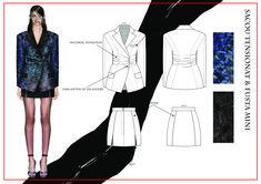 madalina buzas on Behance Fashion Portfolio Layout, Fashion Design Sketchbook, Fashion Design Drawings, Fashion Sketches, Fashion Sketch Template, African Print Jumpsuit, Fashion Illustration Dresses, Dress Sketches, Blazer Fashion