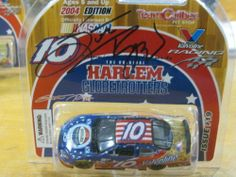 2004 Signed Nascar #10 Scott Riggs 1:64 Valvoline & The Harlem Globetrotters by Team Caliber. $14.95. Harlem Globetrotter special sponser. 2004 monte carlo. Signed LE. NASCAR. #10 Scott Riggs Issue19. This is the valvoline & Original Harlem Globetrotters nascar signed by the driver, Scott Riggs at the race. The in-lay is what's signed & it's still in the original plastic & stored since the race. Issue #19
