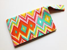 Ikat Diaper Clutch / Customized Diaper by JerseyPeachDesigns, $35.00