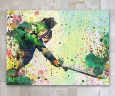 Link Legend of Zelda Game Watercolor Print Poster A3 by GOLDIDI