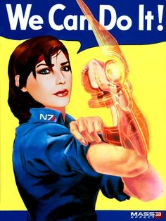 FemShep doing her part!