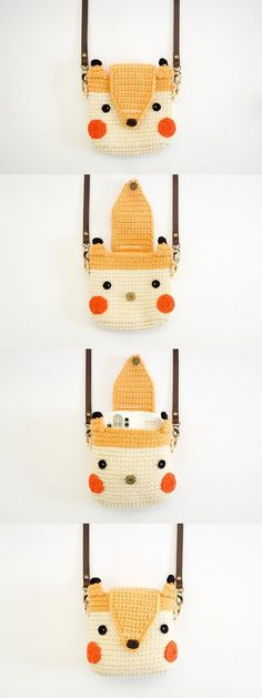 Crochet de cas pour Fuji Instax Camera Fox mignon par meemanan More We are want to say thanks if you like to share this. Love Crochet, Bead Crochet, Crochet Fox, Instax Mini 25, Crochet Camera, Crochet Mobile, Crochet Purses, Knitted Bags, Crochet Accessories