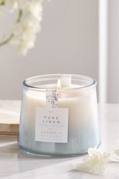 A clean and refreshing scent with marine notes and soft musks. Candle Packaging, Candle Labels, Jar Labels, Candle Jars, Cute Candles, Soy Wax Candles, Cactus Candles, Natural Candles, Homemade Scented Candles