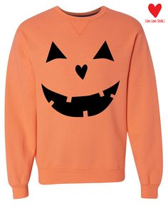 Pumpkin Sweatshirt I handscreen my designs using black waterbased ink. This…