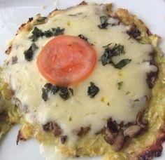 Pizza low carb de abobrinha