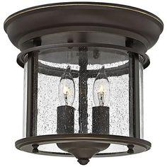 "Hinkley Gentry 9 1/2"" Wide Olde Bronze Ceiling Light"
