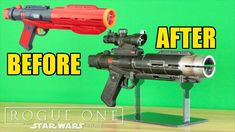 Star Wars: Rogue One- Nerf Death Trooper Blaster Makeover- Chris' Custom Collectables! Star Wars Helmet, Star Wars Guns, Nerf Mod, Star Wars Crafts, Star Wars Models, Cute Baby Dogs, Concept Weapons, Cosplay Diy, Rogues