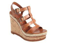 Vince Camuto Serafina Wedge Sandal. Size 7M. Canyon Brown Combo Soft Atanado…