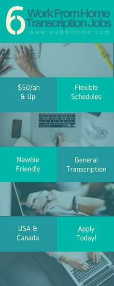 6 Transcription companies that will hire newbies if you pass their test. Transcription is a great way to earn money from home and even turn it into a full-time work at home job.