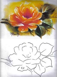 China Painting, Tole Painting, Fabric Painting, Flower Line Drawings, Fabric Paint Designs, Embroidery Works, Art Journal Techniques, Plant Drawing, Painting Lessons