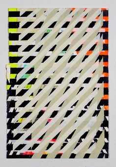 Geometric Painting Neon Yellow Orange & by JenniferSanchezArt, $250.00