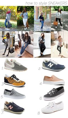 How to style sneakers!