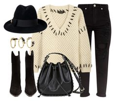 """""""Stand By Me"""" by monmondefou ❤ liked on Polyvore featuring Isabel Marant, Valentino, Gucci and Noir Jewelry"""