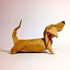 #origami #perro salchicha