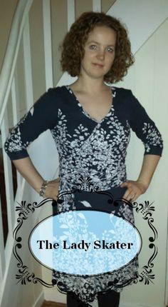 Faux wrap Lady skater dress