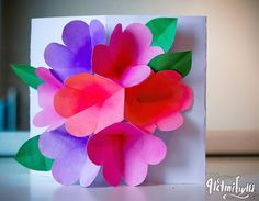 DIY 3d flower card for mothers day: http://www.helmihytti.fi/2014/05/diy-kukkakimppukortti.html