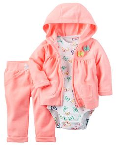 Baby Girl 3-Piece Neon Little Jacket Set from Carters.com. Shop clothing & accessories from a trusted name in kids, toddlers, and baby clothes.