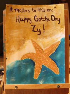 #acrylic #adoption #gift    inspiration from this piece of jewelry and story:   http://www.etsy.com/listing/115592642/it-matters-to-this-one-starfish-necklace?ref=af_you_favitem